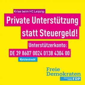 HCL: Private Unterstützung statt Steuergeld!